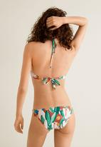 MANGO - Printed bikini bottoms with frill - multi