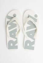 G-Star RAW - Dend flip-flop -white & grey