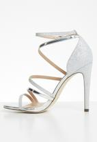 Call It Spring - Glitter ankle strap heel - silver
