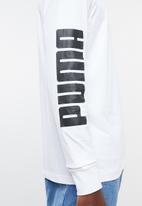 PUMA - Classics logo long sleeve tee - white