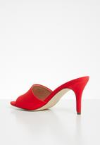 Call It Spring - Tiadda stiletto heel mule - red