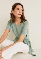MANGO - T-shirt with tie detail - green