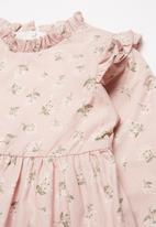 POP CANDY - Printed frill dress - pink