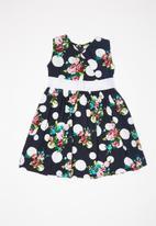 POP CANDY - Printed dress - navy