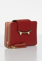 Superbalist - Cat like ear detail purse - red