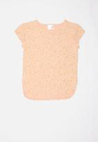 POP CANDY - Girls stretched t-shirt - peach & gold