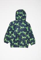 POP CANDY - Hooded printed jacket - navy