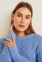 MANGO - Open-knit sweater - blue