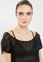 Sissy Boy - Crochet lace cover up - black