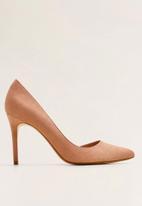 MANGO - Faux leather asymmetric stiletto heel - pink