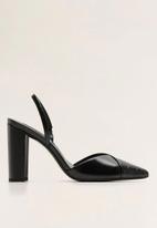 MANGO - Ankle strap block heel - black