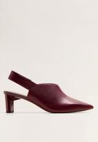 MANGO - Geometric court shoe - burgundy