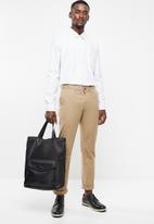 STYLE REPUBLIC - Pin point striped long sleeve shirt -white & black
