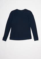 POLO - Teens claire textured pullover - navy