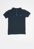 POLO - Boys austin classic short sleeve golfer - navy