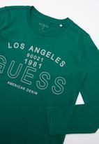 GUESS - Teens long sleeve guess Los Angeles Tee - green