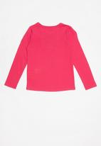 GUESS - Long sleeve popstar tri tee - pink