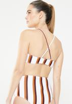 Missguided - Stripe sporty cross back bikini top - multi