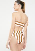 MSH - Beachy keen bikini bottom - brown & white