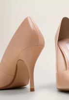 MANGO - Leather stiletto heel - neutral