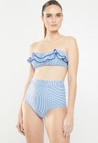 MSH - Blue skies bikini bottom - white & blue