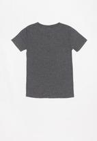 Rebel Republic - Teens printed tee - charcoal