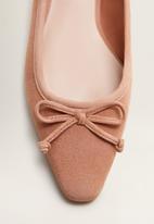 MANGO - Greta leather pump - pink