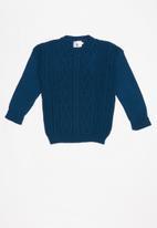 Rebel Republic - Teens rib knit - blue