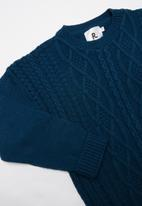 Rebel Republic - Teens rib knit - blue