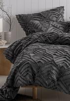 Linen House - Ramona duvet cover set - charcoal