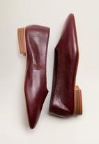 MANGO - Leather slip on ballerina - dark red