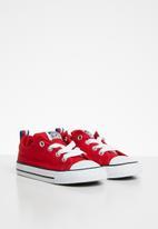 Converse - Chuck Taylor All Star street sneaker - enamel red/black/white