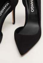 MANGO - Faux leather asymmetric stiletto heel - black
