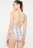 MSH - St baths bikini bottom - navy & white