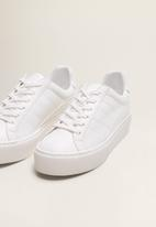 MANGO - Faux leather platform sneaker - white
