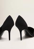 MANGO - Faux leather asymmetric heel - black