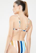 MSH - Sunset stripe bikini top - multi