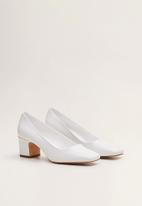 MANGO - Tonia block heel - white