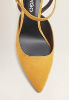 MANGO - Ankle strap heel - yellow