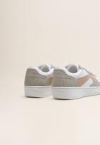 MANGO - Panel platform sneaker - white
