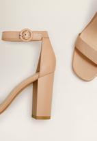 MANGO - Tutti ankle strap heel - pink