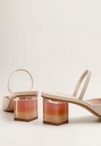 MANGO - Chloe colour-block heel - beige