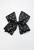POP CANDY - Polka dot bow clip - black