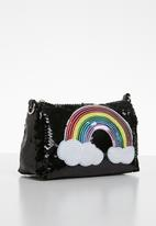 POP CANDY - Rainbow sequin sling bag - black