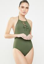 Roxy - Goldy sandy one piece - green
