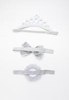 POP CANDY - Hair clip pack - grey & silver