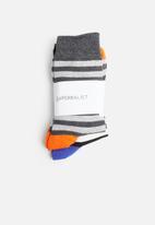 Superbalist - 2-pack striped toe block socks - multi