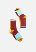 Superbalist - 2-pack colourblock socks - multi