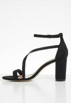 Call It Spring - Azaria  ankle strap heel - black