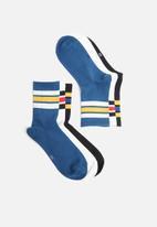 Superbalist - 3-pack retro sport socks - multi